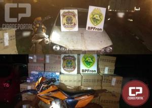 Operação Hórus apreende veículo carregado com cigarros paraguaios em Guaíra