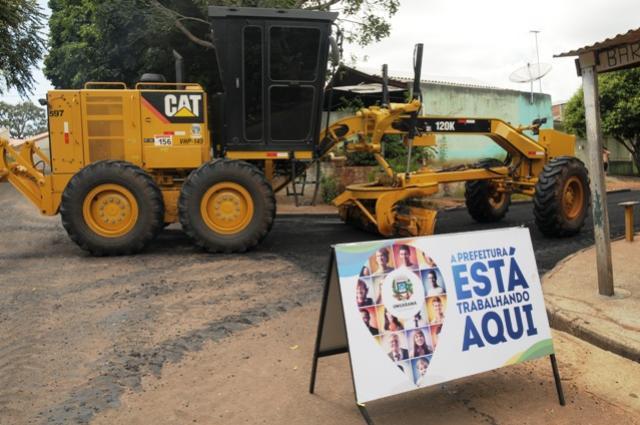 Prefeitura inicia reperfilamento  das ruas do San Martim e Jaborandi