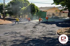 Avenida Rio Grande do Norterecebe recapeamento asfáltico em Umuarama