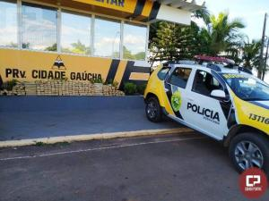 Polícia Rodoviária de Cidade Gaúcha encontra 367 tabletes de maconha em carro abandonado na PR-082