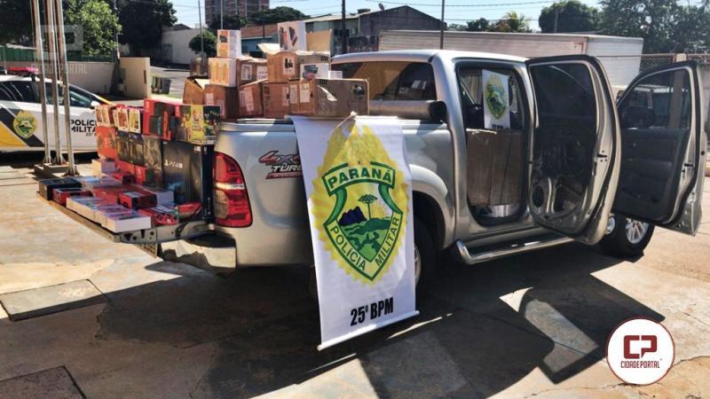 Polícia Militar de Umuarama apreende um milhão e meio em eletrônicos contrabandeados