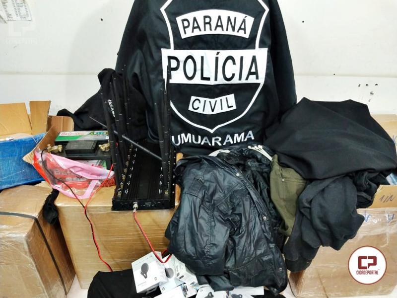 Polícia Civil de Umuarama prende em flagrante cinco autores de roubo a residência em Umuarama