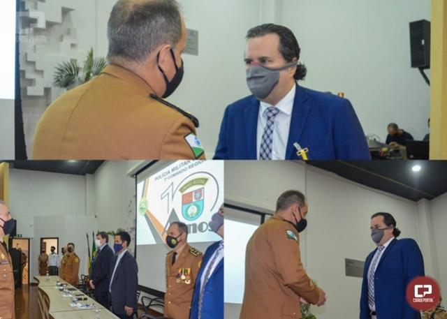 3º CRPM, 25º BPM - Reitor da Unipar de Umuarama Dr. Carlos Garcia recebe Honraria Militar
