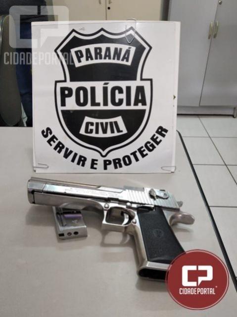 Polícia Civil de Umuarama apreende arma utilizada em roubo na cidade de Perobal