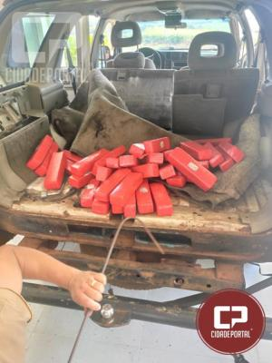 PRE de Iporã apreende veiculo Paraguaio com quase 50 kg de maconha e prende condutor