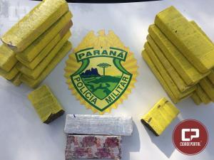 Polícia Ambiental de Umuarama apreende 16 quilos de maconha que seria entregue em Maringá.