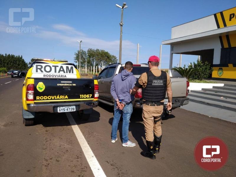 Equipe da Rotam 3ª CIA da Polícia Rodoviária Estadual recupera caminhonete roubada e prende condutor
