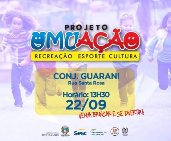 Crianças do Guarani poderão se divertir com Umuação neste sábado, 22 em Umuarama