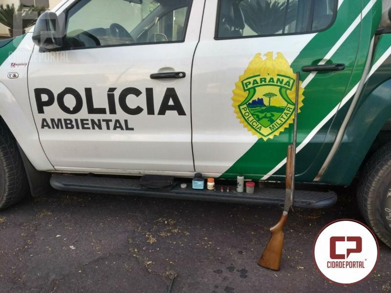 Polícia Ambiental de Umuarama prende uma pessoa por porte ilegal de arma de fogo em Iporã
