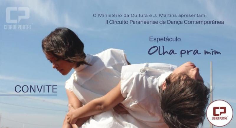 Sesc de Umuarama recebe o espetáculo de dança Olha para Mim dia 26 de Maio