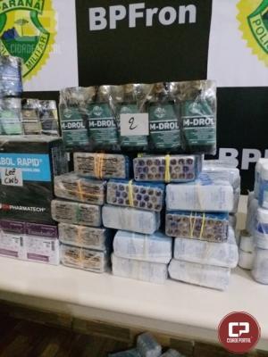 BPFron realiza grande apreensão de medicamentos de origem estrangeiras em Guaíra