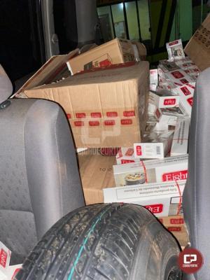 PRE apreende grande quantidade de cigarros contrabandeados e pneus em Palotina