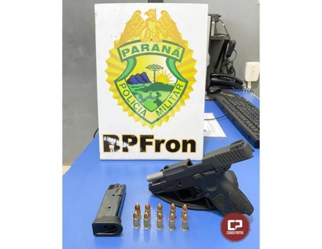 BPFron e BPAMB recuperam arma furtada em Umuarama durante Operação Hórus