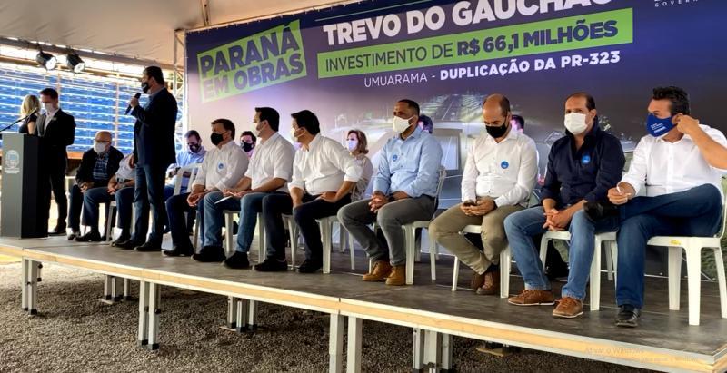 Governador Ratinho Junior lança em Umuarama pedra fundamental da duplicação da rodovia PR-323