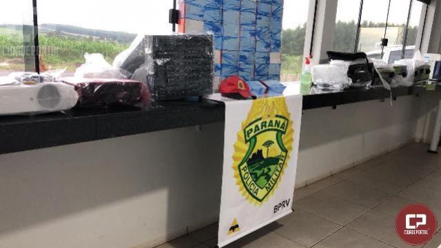PRE de Iporã apreende cerca de R$60 mil em produtos oriundos do Paraguai