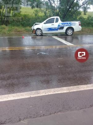 PRE de Iporã atende acidente no trevo do Distrito de Cedro