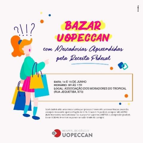Uopeccan realiza bazar com mercadorias apreendidas pela receita federal