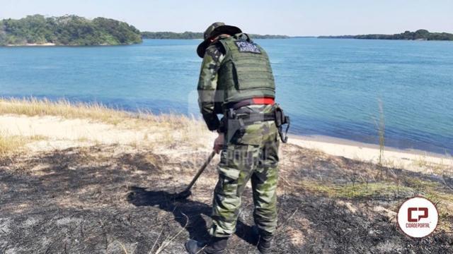 Incêndio florestal no Parque Nacional de Ilha Grande é contido por Policiais Ambientais