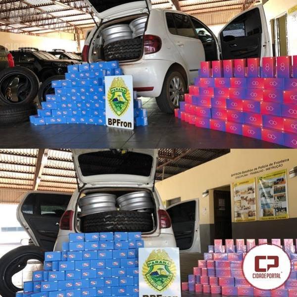 BPFron apreende veículo e carga avaliada em U$ 45.000,00 Dólares de contrabando em Guaíra
