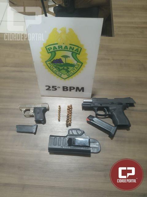 Um casal foi preso por porte ilegal de arma de fogo em Umuarama