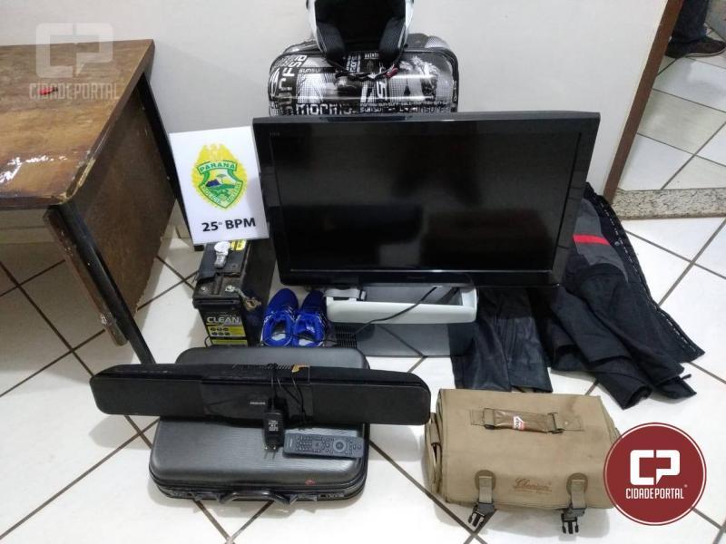 Duas pessoas foram presas pela Polícia Militar em Umuarama acusados de receptação