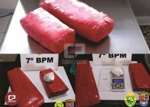 PM prende casal com tabletes de maconha em Cidade Gaúcha