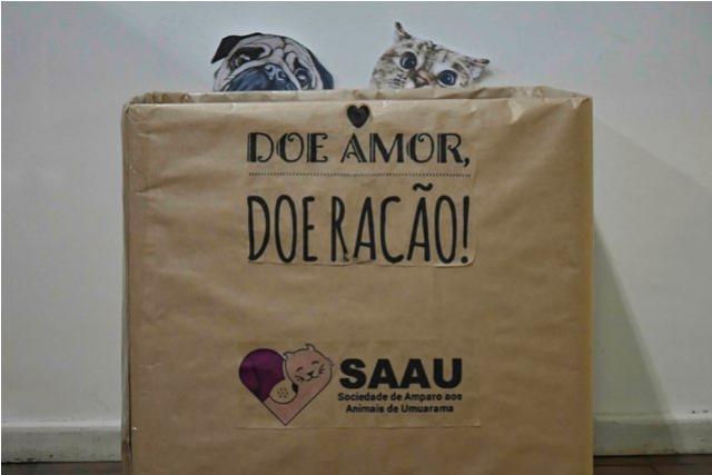 Servidores municipais promovem campanha para arrecadar ração para animais de Umuarama