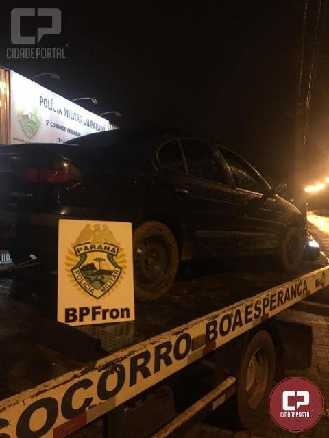 BPFRON recupera veículo roubado em Guaíra