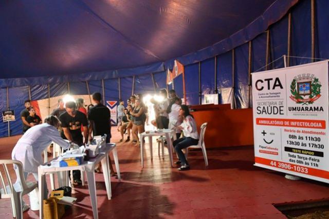 Secretaria de Saúde de Umuarama ofereceu testes rápidos para artistas do Circo dos Sonhos