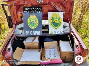 Equipe Rotam da 3° CIA/ BPRv Cascavel apreende veículo carregado com aparelhos celulares