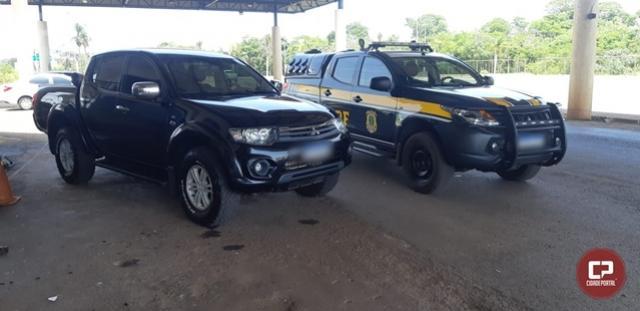 PRF recupera, em Guaíra, caminhonete sem seguro, furtada em Santa Catarina