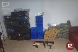 Equipe policial de Icaraíma apreende armas e drogas durante patrulhamento