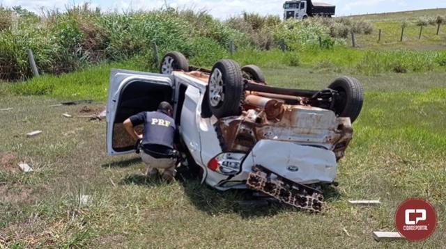 PRF apreende maconha, skunk e haxixe após veículo capotar em Xambrê