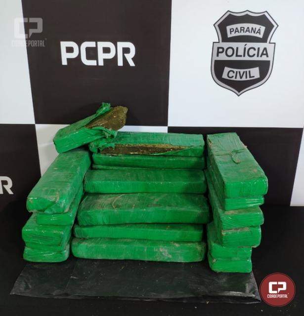 Polícia Civil de Umuarama prende traficante e apreende 22 kg de Maconha
