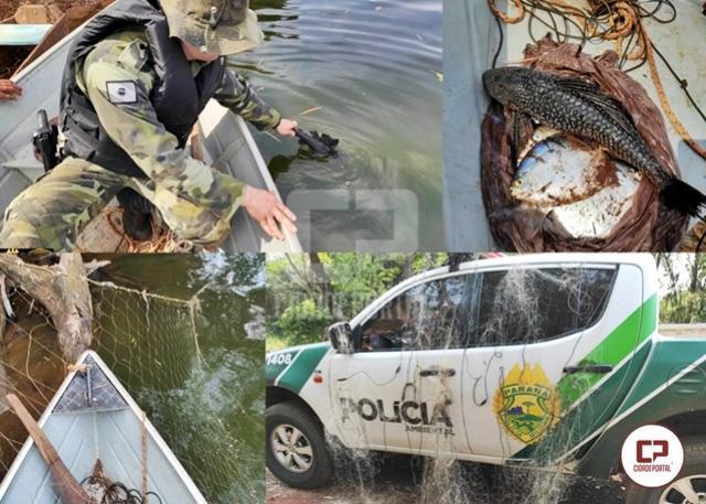 Polícia Ambiental prende homem por pesca predatória em Francisco Alves