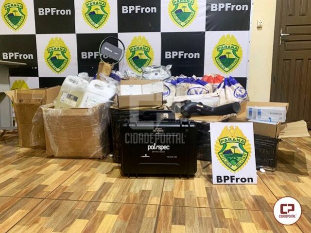 Materiais hospitalares e odontológicos são apreendidos pelo BPFRON em Guaíra