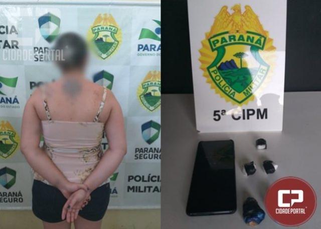 Equipe ROTAM efetua prisão de uma jovem com 35 g de entorpecente em Umuarama