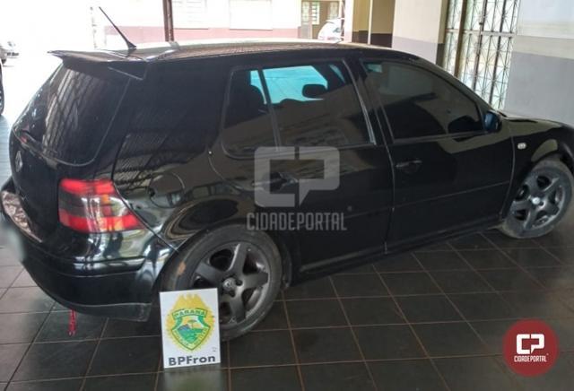 BPFron recupera, em Guaíra, veículo que foi roubado na cidade de Iporã