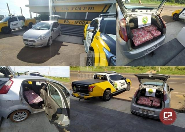 PRE de Iporã apreende veículo transportando quase 200 kg de maconha