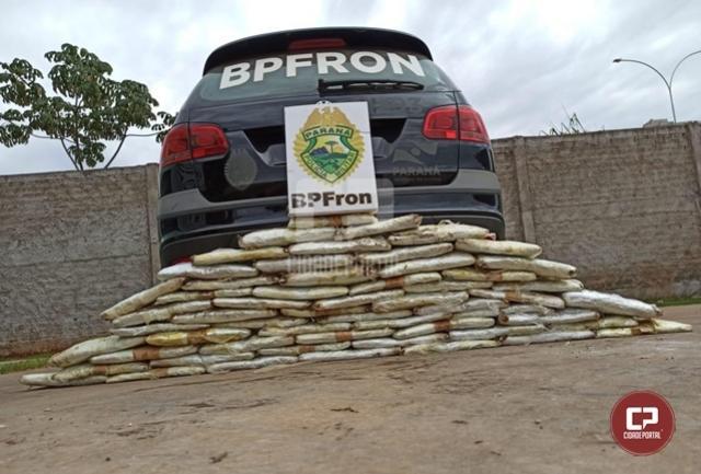 BPFron apreende drogas em pneu de caminhão no município de Perobal