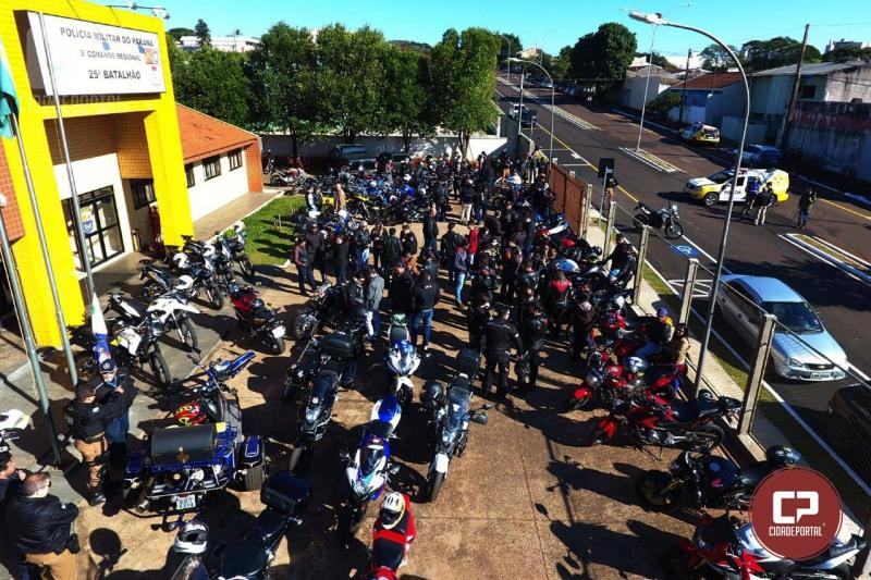 Foi sucesso o 1º Passeio Motociclístico do 25º BPM realizado neste sábado, 25