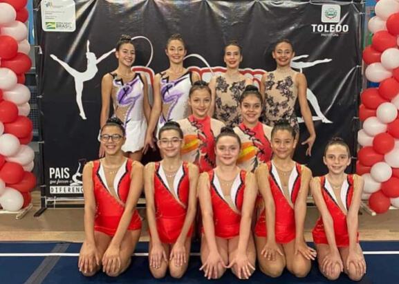 Atletas de ginástica rítmica de Umuarama se destacam no Paranaense