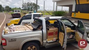 Polícia Rodoviária Estadual de Iporã apreende veículo com contrabando de cigarros em Cafezal do Sul