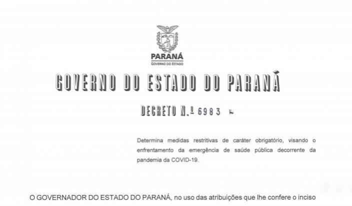 Umuarama seguirá determinações de decreto estadual para enfrentar pandemia
