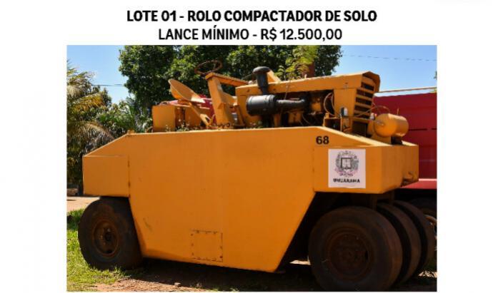 Prefeitura realiza leilão de sucata e veículos inservíveis avaliados em quase R$ 150 mil