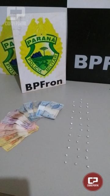 BPFRON apreende crack em Guaíra durante Operação Hórus