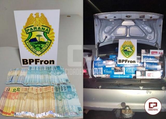 BPFron apreende contrabando em veículo durante Operação Hórus em Perobal