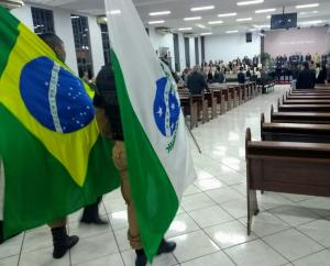 Culto em alusão aos 164 da PMPR foi realizado em Umuarama neste domingo, 26