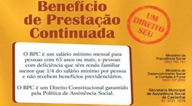 Quem recebe o Benefício de Prestação Continuada tem que se cadastrar até 31 de dezembro no Cadastro Único do Governo Federal