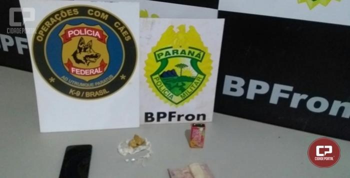 BPFRON apreende pedras de crack em Guaíra durante Operação Hórus